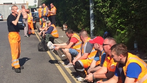 Workers have been maintaining pickets at a number of Greyhound's premises