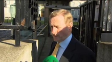 Enda Kenny and Brendan Howlin comment on their way into the Cabinet meeting