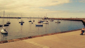 Boats docked at the harbour in Dún Laoghaire, Co Dublin (Pic: @popdeemhq)