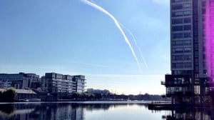 Dublin's Grand Canal Dock shines in the sun (Pic: @Wakedock)