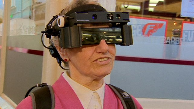 Lyn Oliver, who has very limited vision, is one of those trialling the glasses