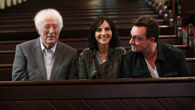 Festival organiser Sian Smyth with a couple of mates at a previous Dalkey Book Festival