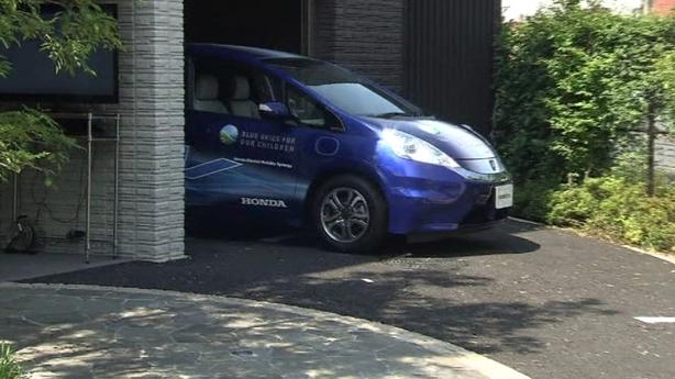 Self-parking e-car