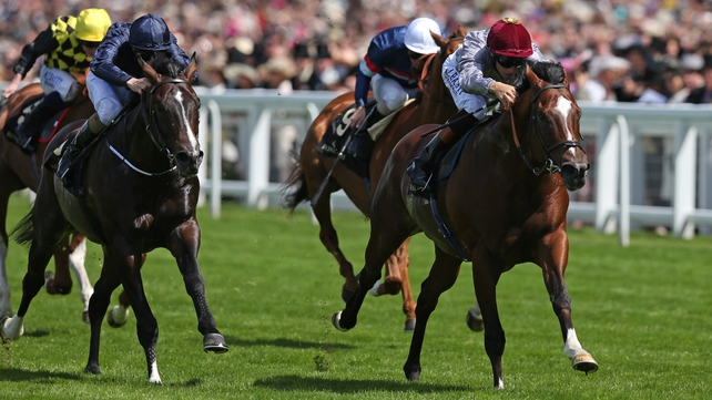 Toronado, ridden by Richard Hughes. breaks away to win the Queen Anne Stakes