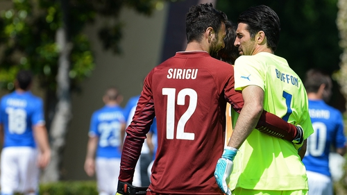 Salvatore Sirigu said had to be realistic about replacing Gianluigi Buffon in goal