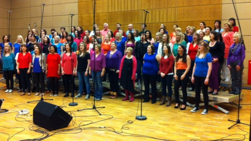 The RTÉ staff choir, The Soulful, and The Line-up