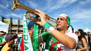 Algerian fans travelled in large numbers to the sunny stadium...