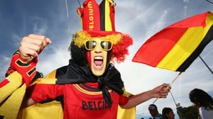 The Belgians weren't to be outdone, though, as hundreds of faces painted red, yellow and black stood out in the crowd