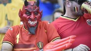 The Red Devils, as the Belgium squad are known, had plenty of whole-hearted support