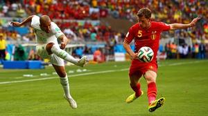 Feghouli managed a couple more shots on Belgium goalkeeper Thibaut Courtois