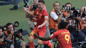 And no more than 10 minutes later, midfielder Dries Mertens solidified Belgium's come-from-behind victory with a gorgeous goal, leaving the final score at 3-1