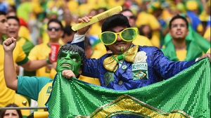 Then onto Fortaleza and Estádio Castelão, where Elvis and the Hulk formed an unlikely bond in cheering on the Brazilian home squad