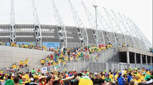 A capacity crowd of 67,037 flocked into the recently re-furbished stadium