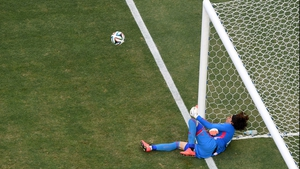 Ochoa, having dived to make another spectacular save