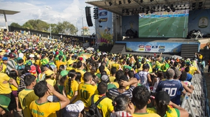 Fans all over Brazil - including here in Manaus - watched the action, on edge hoping for a victory...