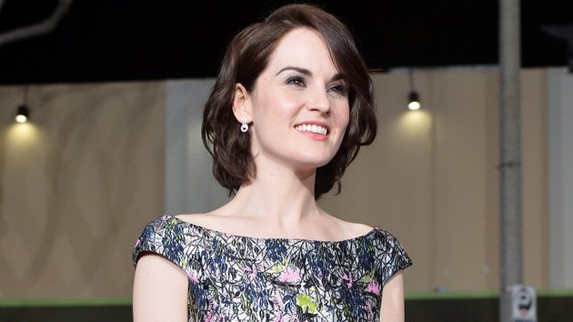 Michelle Dockery with Downton Abbey till the end