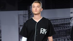 Rafferty Law makes catwalk debut at DKNY's menswear show at London Fashion Week