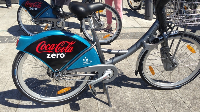 The bike scheme has been rebranded 'Coca-Cola Zero dublinbikes'