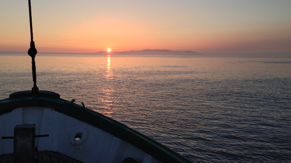 Moving towards Lambay Island, off the Co Dublin coast, at 4:30am (Pic: Eoin Grimes)
