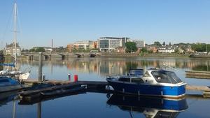 Boats docked in Limerick shine in the June sunshine (Pic: Jennifer Mullane)