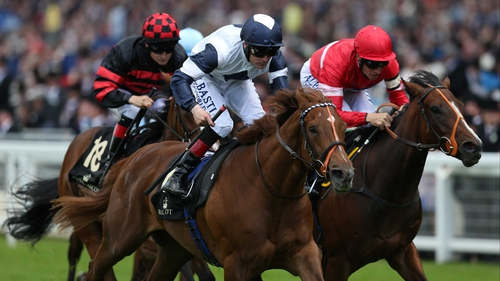 Anthem Alexander wins The Queen Mary Stakes during day two of Royal Ascot