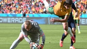 The Aussies kept up with The Netherlands, though, as forward Matthew Leckie led a number of challenges up the seams, stopped only by Netherlands goalkeeper Jasper Cillessen