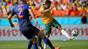 Less than a minute later, however, Australia veteran forward Tim Cahill scored on a spectacular volley, providing a lightning quick equaliser and a moment to remember