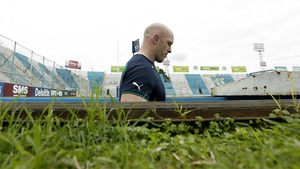 Paul O'Connell emerges from the tunnel for the captain's run ahead of the second Test against Argentina