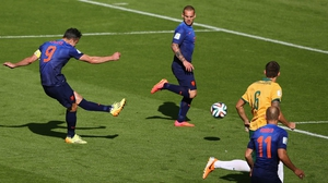 Less than five minutes later, though, Van Persie rocketed one in at 58' to even the score once more at 2-2