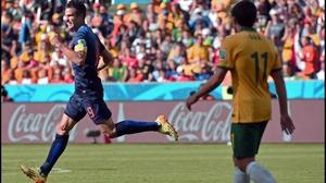 The goal was Van Persie's third of the tournament so far