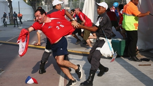 Then off to Rio de Janeiro, where some Chile fans got a bit too riled up ahead of the match against World Champions Spain