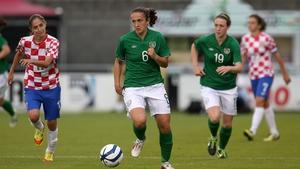 Dora Gorman in action against Croatia
