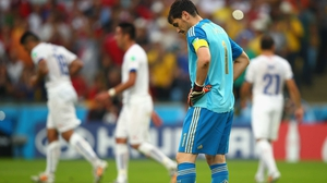 ... while Casillas lamented conceding his sixth goal in the last one and a half matches