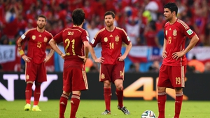 Meanwhile, some of Spain's greatest stars let the goal sink in. Spain had by then conceded one more goal in this World Cup than they had in the 2008 Euros, 2010 World Cup and 2012 Euros combined