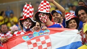 These cheery Croatia fans didn't seem to mind the hot temperatures