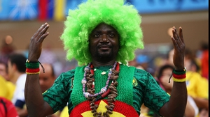 And fans of Cameroon made for a festive atmosphere as well