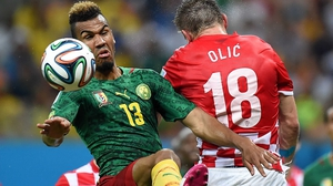 There wasn't much doing for Cameroon in the first half, though, as forward Eric Maxim Choupo-Moting couldn't quite connect on this header