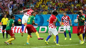 At 61' Croatia forward Mario Mandzukic scored on a low, strong header to widen his side's lead to 3-0