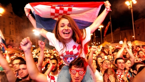 Most fans watching in Zagreb were visibly delighted with the scoring spree...