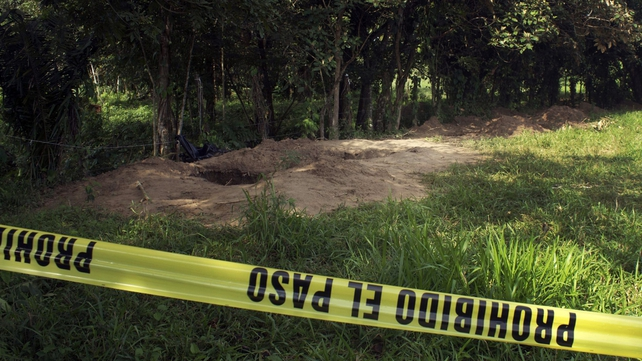 An army patrol found the mass grave at an abandoned ranch