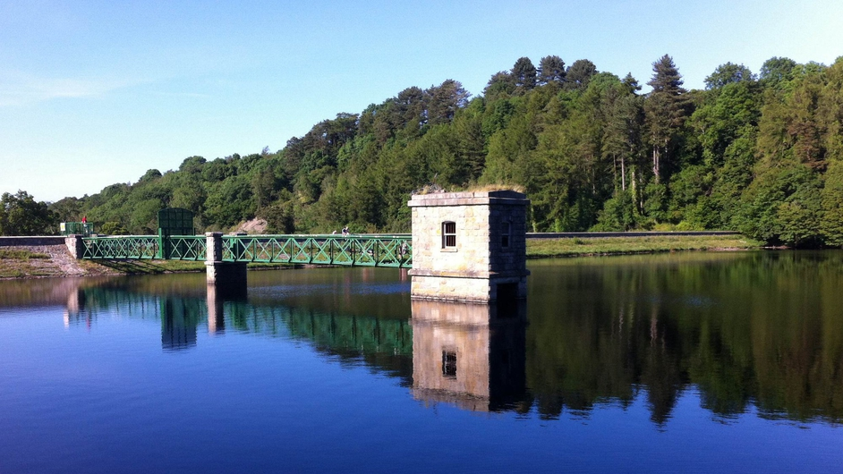 The Bohernabreena Reservoir in Glenasmole, Dublin, is illuminated in the summer sunlight (Pic: Conor Feehan)
