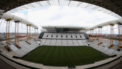 FIFA World Cup 2014 - the Sao Paolo venue under construction, before the people came