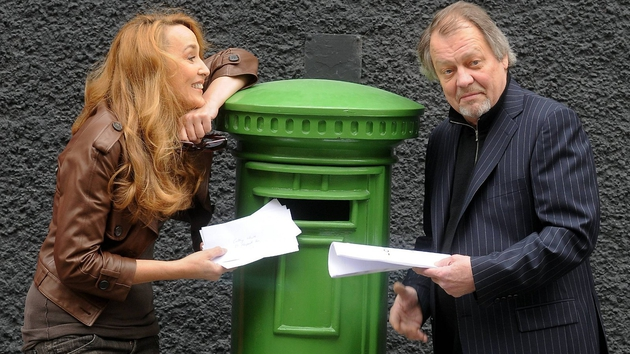 Jerry Hall and David Soul in Dublin in 2008 promoting Love Letters