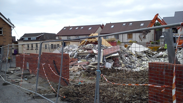The four and five bed units on Seaview Park in Shankill were being constructed by Orchid Homes