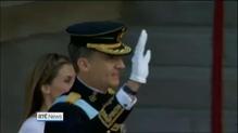 Felipe succeeds father to take Spanish throne