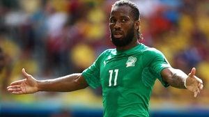Didier Drogba was confined to a substitute's role for the second World Cup game in a row
