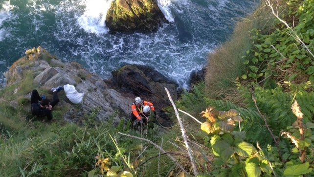 Two men were rescued from cliffs on Howth Head Pic: Irish Coast Guard