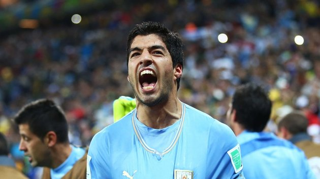Luis Suárez - Uruguay's two-goal hero on the night