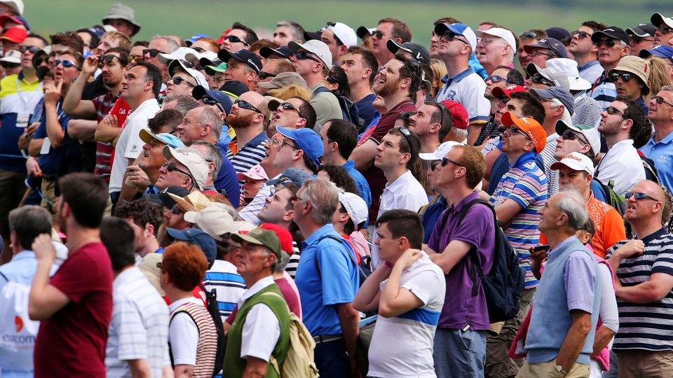Large crowds watch the action on day two