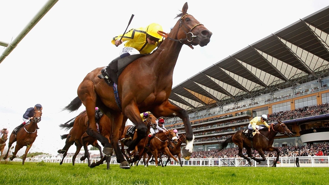 Rizeena saw out the trip strongly to win the Coronation S